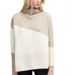 FRENCH CONNECTION Color Blocking High Neck Sweater